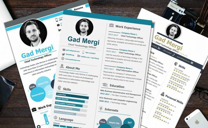Free Infographic CV Templates